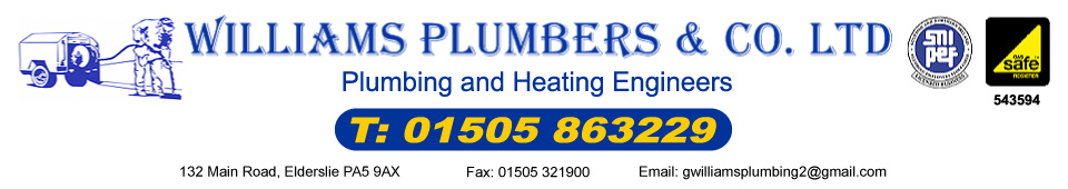 Williams Plumbers Glasgow and Paisley